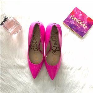 SAM Edelman hot pink heels